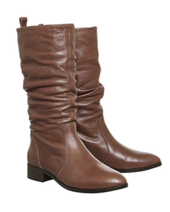 Office Knoxville Ruched Calf Boots