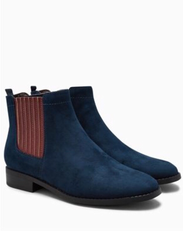Next Navy Chelsea Boots