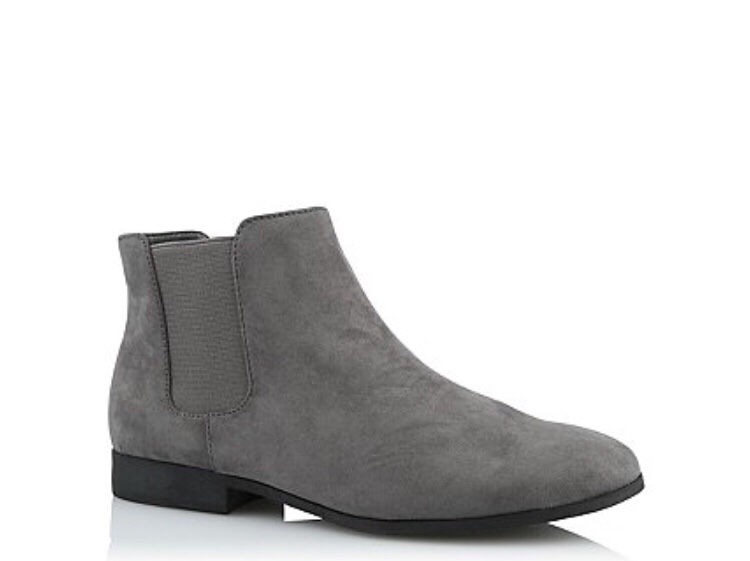 George Asda - Grey Faux Suede Chelsea Boots