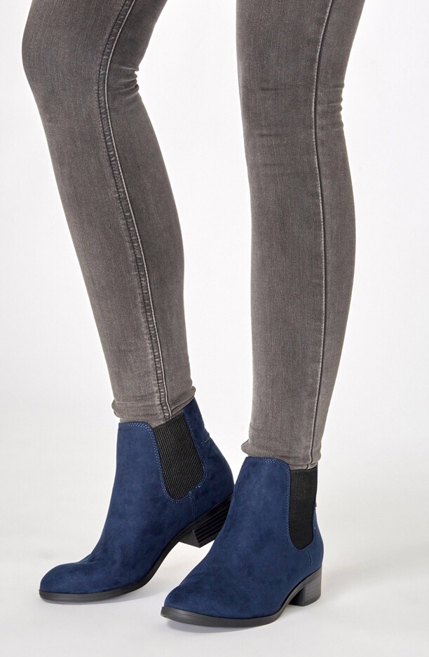 Dorothy Perkins Navy Monty Chelsea Boots