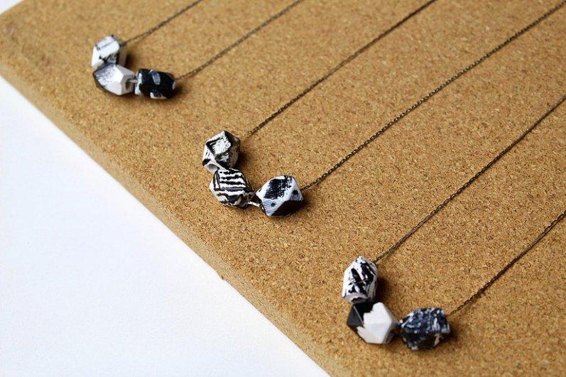 Jennifer Lemon 3 Mini Polygons Necklace 1-3